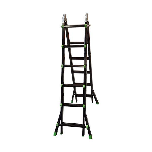 Escalera Multiusos Negra/ Verde