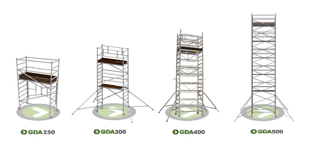 Elegir la torre de andamios de aluminio adecuada para usted en Go Direct Access